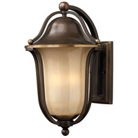 Bolla 3 Light 19 inch Olde Bronze Outdoor Wall Lantern in Light Amber Seedy, Incandescent