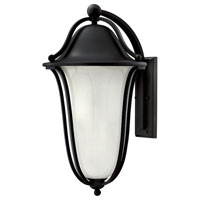 Bolla 1 Light 26 inch Black Outdoor Wall in Clear Seedy Etched Inside, GU24