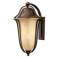 Hinkley Lighting Bolla 2 Light Outdoor Wall Lantern in Olde Bronze with Light Amber Seedy Glass 2639OB-LED