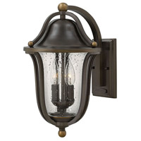 Bolla 2 Light 16 inch Olde Bronze Outdoor Wall Mount, Clear Seedy Glass