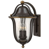 Hinkley 2645OB Bolla 3 Light 19 inch Olde Bronze Outdoor Wall Lantern, Clear Seedy Glass