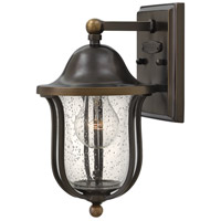 Hinkley 2646OB Bolla 1 Light 11 inch Olde Bronze Outdoor Mini Wall Mount, Clear Seedy Glass