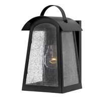 Putney Bridge 1 Light 11 inch Black Outdoor Wall, Seedy Glass
