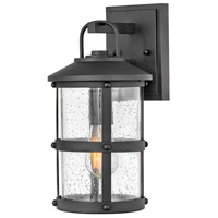 Hinkley 2680BK Open Air Lakehouse 1 Light 15 inch Black Outdoor Wall Mount