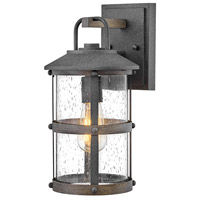 Hinkley 2680DZ Lakehouse 1 Light 15 inch Aged Zinc with Driftwood Grey Accents Outdoor Wall Mount