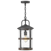 Hinkley 2682DZ Lakehouse 1 Light 9 inch Aged Zinc with Driftwood Grey Accents Outdoor Hanging Lantern