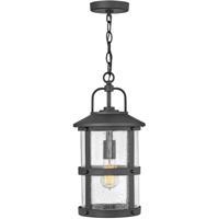 Hinkley 2682BK Open Air Lakehouse 1 Light 9 inch Black Outdoor Hanging Light