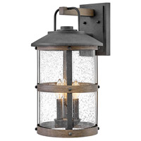 Lakehouse 3 Light 20 inch Aged Zinc Outdoor Wall Mount