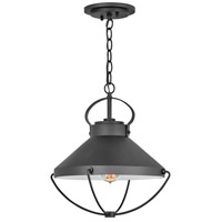Hinkley 2692BK Crew 1 Light 15 inch Black Outdoor Hanging Light