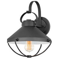 Hinkley 2694BK Crew 1 Light 14 inch Black Outdoor Wall Mount