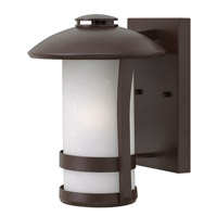 Hinkley Lighting Chandler 1 Light Outdoor Wall Lantern in Anchor Bronze with Etched Seedy Glass 2700AR-LED