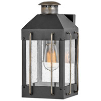 Hinkley 2730TK Heritage Fitzgerald 1 Light 13 inch Textured Black/Burnished Bronze Outdoor Wall Mount