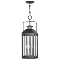 Hinkley 2732TK Heritage Fitzgerald 3 Light 9 inch Textured Black/Burnished Bronze Outdoor Hanging Light