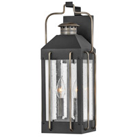 Hinkley 2734TK Heritage Fitzgerald 2 Light 19 inch Textured Black/Burnished Bronze Outdoor Wall Mount