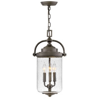 Hinkley 2752OZ Willoughby 3 Light 10 inch Oil Rubbed Bronze Outdoor Hanging Lantern