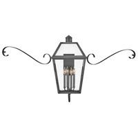 Hinkley 2775BLB-SCR Heritage Nouvelle 4 Light 31 inch Blackened Brass/Black Outdoor Wall Mount in LED