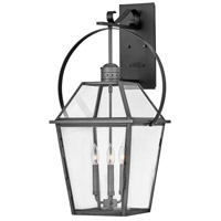 Hinkley 2778BLB Heritage Nouvelle 3 Light 31 inch Blackened Brass/Black Outdoor Wall Mount