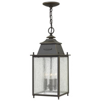 Hinkley 2782OZ Chatfield 3 Light 9 inch Oil Rubbed Bronze Outdoor Hanging Lantern