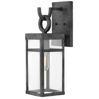 Hinkley 2800DZ Porter 1 Light 19 inch Aged Zinc Outdoor Wall Mount, Small