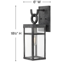 Hinkley 2800DZ Lisa McDennon Porter 1 Light 19 inch Aged Zinc Outdoor Wall Mount, Open Air alternative photo thumbnail