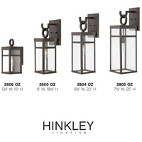 Hinkley 2800OZ Porter 1 Light 19 inch Oil Rubbed Bronze Outdoor Wall Mount, Small  alternative photo thumbnail