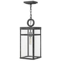 Porter 1 Light 8 inch Aged Zinc Outdoor Pendant