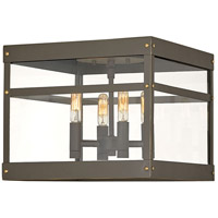 Hinkley 2803OZ Porter 4 Light 12 inch Oil Rubbed Bronze Outdoor Ceiling Light Open Air