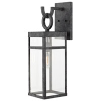 Porter 1 Light 22 inch Aged Zinc Outdoor Wall Mount, Medium