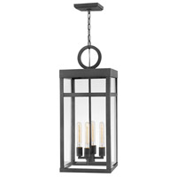 Hinkley 2808DZ Porter 4 Light 12 inch Aged Zinc Outdoor Hanging Lantern