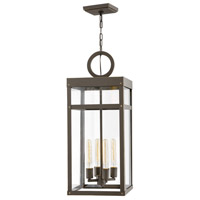 Hinkley 2808OZ Porter 4 Light 12 inch Oil Rubbed Bronze Outdoor Hanging Lantern
