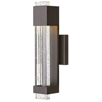 Hinkley 2830BZ Glacier LED 16 inch Bronze Outdoor Wall Sconce, Small