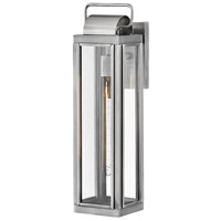 Hinkley 2845AL Sag Harbor 1 Light 21 inch Antique Brushed Aluminum Outdoor Wall Mount