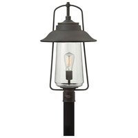 Hinkley Lighting Belden Place 1 Light Outdoor Post Lantern in Oil Rubbed Bronze 2861OZ