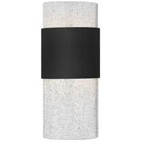 Hinkley 2890BK Horizon LED 12 inch Black Outdoor Wall Mount Clear Seedy Glass