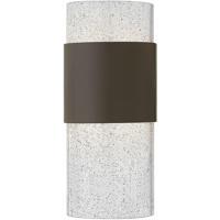 Hinkley 2890KZ Horizon LED 12 inch Buckeye Bronze Outdoor Wall Mount, Clear Seedy Glass