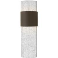Hinkley 2894KZ Horizon LED 17 inch Buckeye Bronze Outdoor Wall Mount, Clear Seedy Glass