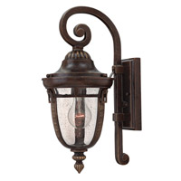 Key West 1 Light 16 inch Regency Bronze Outdoor Wall Lantern in GU24, Clear Seedy Glass