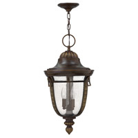 Key West 1 Light 12 inch Regency Bronze Outdoor Hanging Lantern in GU24, Clear Seedy Glass