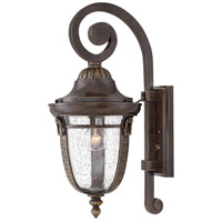 Hinkley 2904RB Key West 1 Light 21 inch Regency Bronze Outdoor Wall Mount in Incandescent, Clear Seedy Glass