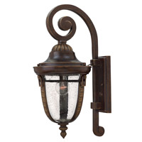 Hinkley 2904RB-GU24 Key West 1 Light 21 inch Regency Bronze Outdoor Wall Lantern in GU24, Clear Seedy Glass