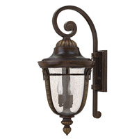 Key West 1 Light 27 inch Regency Bronze Outdoor Wall Lantern in GU24, Clear Seedy Glass