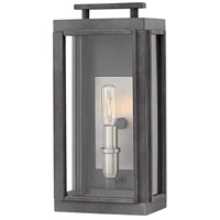 Hinkley 2910DZ Sutcliffe 1 Light 14 inch Aged Zinc Outdoor Wall Mount in Candelabra