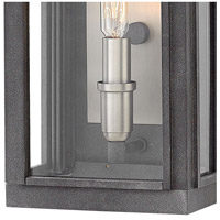 Hinkley 2910DZ Sutcliffe 1 Light 14 inch Aged Zinc Outdoor Wall Mount in Candelabra alternative photo thumbnail