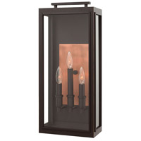 Sutcliffe 3 Light 22 inch Oil Rubbed Bronze Outdoor Wall Mount in Candelabra