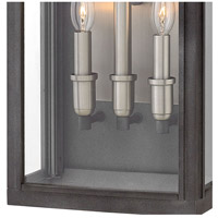 Hinkley 2915DZ Sutcliffe 3 Light 22 inch Aged Zinc Outdoor Wall Mount in Candelabra alternative photo thumbnail