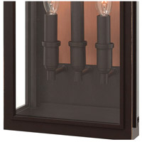 Hinkley 2915OZ Sutcliffe 3 Light 22 inch Oil Rubbed Bronze Outdoor Wall Mount in Candelabra alternative photo thumbnail