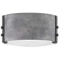 Hinkley 29201DZ Open Air Sawyer 2 Light 9 inch Aged Zinc/Distressed Black Outdoor Flush Mount in Incandescent