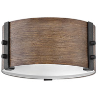 Hinkley 29201SQ Sawyer 2 Light 9 inch Sequoia Outdoor Flush Mount, Open Air