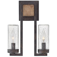 Hinkley 29202SQ-LL Sawyer LED 12 inch Sequoia/Iron Rust Outdoor Wall Mount in Oil Rubbed Bronze Open Air