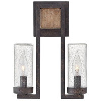 Hinkley 29202SQ Sawyer 2 Light 12 inch Sequoia Outdoor Sconce, Open Air
